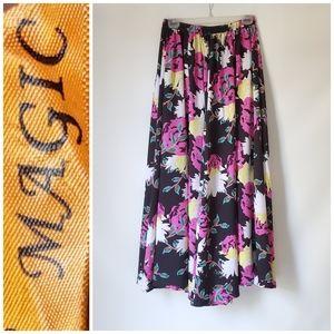 Maxi Floral Flowy Skirt Like New!